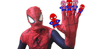 the amazing spiderman finger family song in a car superheroes