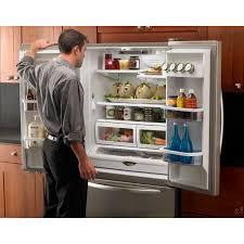 kitchenaid cabinet depth refrigerator kitchenaid kbfs20ecms french door counter depth refrigerator with