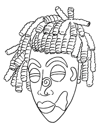 african mask coloring page download free african mask coloring