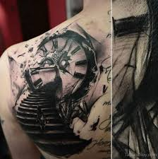 clock tattoo design on back tattoo designs tattoo pictures