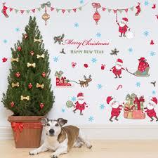 popular 3d wallpaper christmas buy cheap 3d wallpaper christmas merry christmas diy vinyl wall stickers santa claus glass window home decor art decals creative 3d