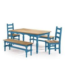 Dining Table And 2 Benches Blue Dining Room Sets Kitchen U0026 Dining Room Furniture The