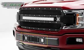 f150 bumper light bar t rex ford f 150 torch series bumper grille overlay w 2 3