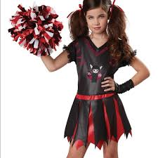 Girls Cheerleader Halloween Costume 67 Halloween Costume Varsity Vampire Cheerleader