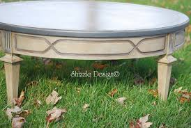 chalk paint coffee table shizzle design antique round coffee table with old world patina