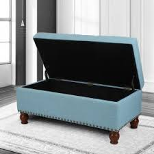 6 Foot Storage Bench Adeco Green Bonded Leather Rectangular Ottoman Ft0034