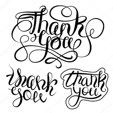thanksgiving posters thank you lettering text set isolated curly style thanksgiving