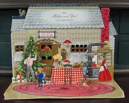 vintage hallmark pop up christmas card cards vintage and