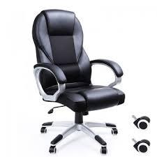 fauteuils de bureaux songmics fauteuil de bureau noir pour ordinateur