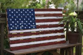 Reclaimed Wood Flag Wooden American Flag Sign American Flag Pallet Sign The Last Straw