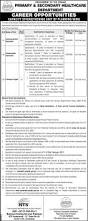secondary unit primary and secondary healthcare department jobs capacity