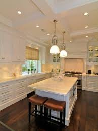 kitchen ceiling lighting ideas interior top notch l shape kitchen decoration with white recessed