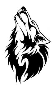 tribal howling wolf design
