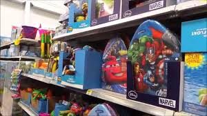 the summer toys and outdoor play aisle in walmart summer