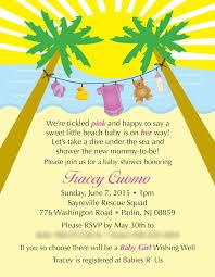 beach baby shower invitations u2013 gangcraft net