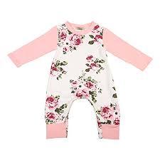 newborn jumpsuit newborn baby floral romper summer autumn sleeve romper