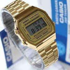 Jam Tangan Casio New jam tangan casio original a 168 wanita warna gold