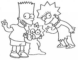 simpson coloring pages coloring home within lisa simpson