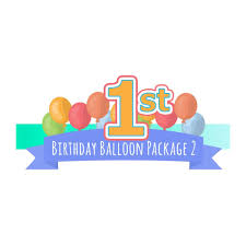 1st birthday party decoration with balloons kidz party store