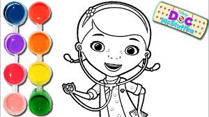 how to draw u0026 color a doc mcstuffins drawing on u0026 new learning 4