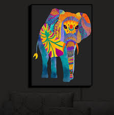 Elephant Wall Sconce Illuminated Wall Art Pom Graphic Design U0027s Whimsical Elephant Ii