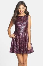 hailey logan by adrianna papell juniors u0027 cutout sequin band gown
