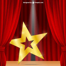 Curtains On A Stage Star On A Stage Vector Free Download
