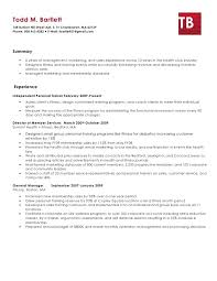 personal trainer resume health and fitness expert resume health