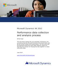 microsoft dynamics ax 2012 performance data collection and