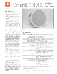download free pdf for jbl control control 25av speaker manual