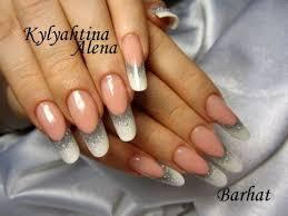 fingern gel design vorlagen fingernägel design alenail weiß mit silber glitzer