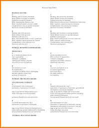 Business Letter Format Styles 4 Letter Mla Format Childcare Resume