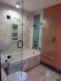 glass tub shower doors frameless tub and shower frameless enclosure patriot glass and mirror
