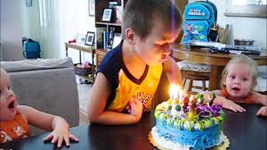 when you burn your face blowing out candles video youtube