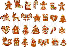 big christmas cookies collection with gingerbread and cookies