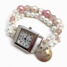 beaded bracelet watches images Pink beaded watch bracelet pink watch from julemi jewelry jpg