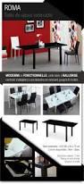 Table Verre Noir Extensible by Roma Table Extensible 4 à 6 Personnes 120 180x80 Cm Noir Achat