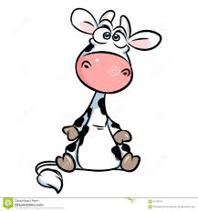 cute little cow cartoon illustration stock illustration image