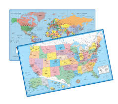 Future Map Of Usa by World U0026 Usa Educational Intermediate Level 5 12 Wall Map Set