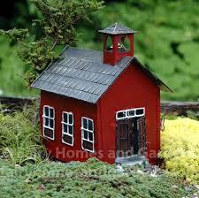 Miniature Gardening Com Cottages C 2 Miniature Gardening Com Cottages C 2 Miniature Little Red Shool House Fairy Garden House