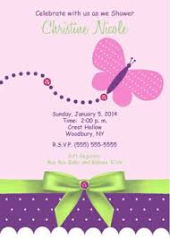 baby butterfly baby shower invitation baby shower