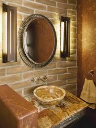 brick in bathroom powder room with shower powder room bathroom