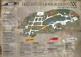 halloween horror nights hollywood 2012 map hhn xx map and construction pix hhnrumors