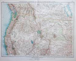 map usa northwest map of the northwest usa 1903