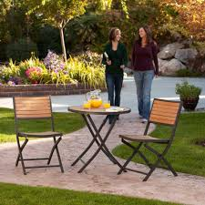 Folding Patio Furniture Set by Lifetime 3 Piece Folding Patio Bistro Set 60074u The Home Depot