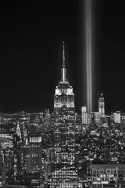 new york city tribute in lights empire state building manhattan at
