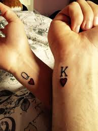 awesome couple tattoo couples tattoo wrist tattoo king and queen