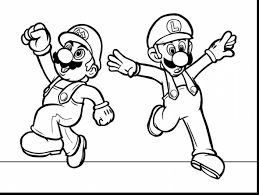 excellent printable mario coloring pages mario brothers