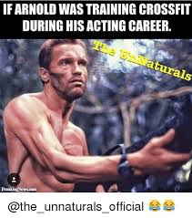 Arnold Meme - if arnold wastraining crossfit during his acting career make a meme