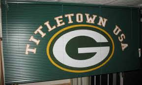 Green Bay Packers Window Curtains Customized Mini Blinds Vertical Blinds Sports Logos Applied